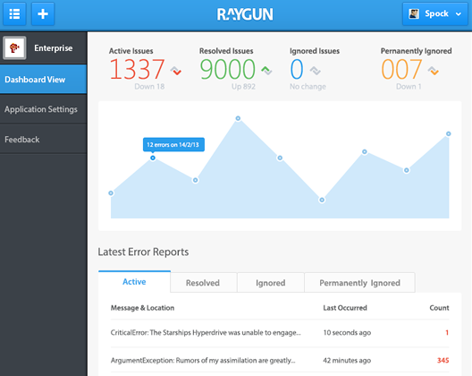 overview of raygun.io